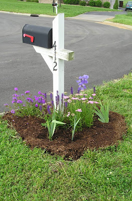 landscaping around mailbox post. my mailbox garden landscaping around post