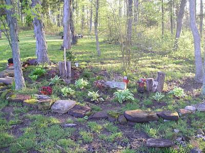 Patio gardening ideas300x225 patio gardening ideas for Woodland shade garden designs