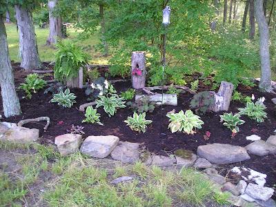 Growing the home garden a woodland shade garden design for Woodland shade garden designs