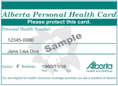 immigration JOURNEY TO ALBERTA canada...: Alberta Health Card