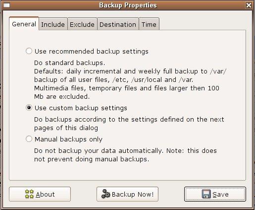 Backup Manager, nuovo pacchetto di backup per Linux.