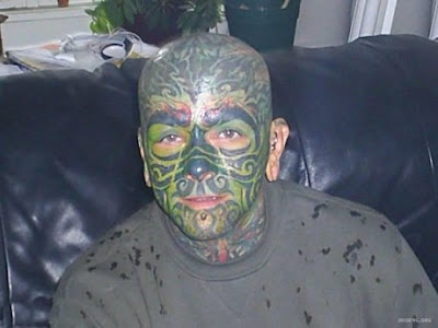 Tattoos on the face is ugly - O M G
