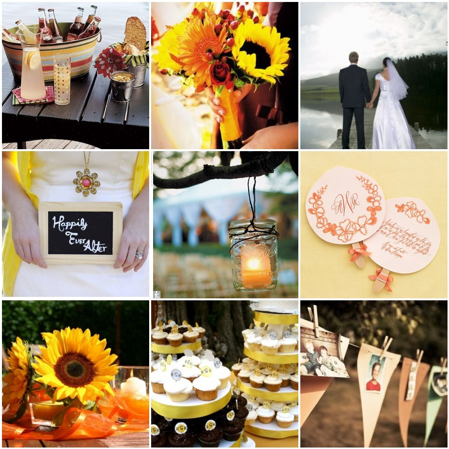 Peach Pizzazz!: Custom Inspiration Board: Lakeside Wedding
