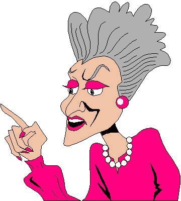 gigloqic: old lady cartoon clip art