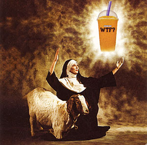 Mac's WTF Nun and Goat Poster