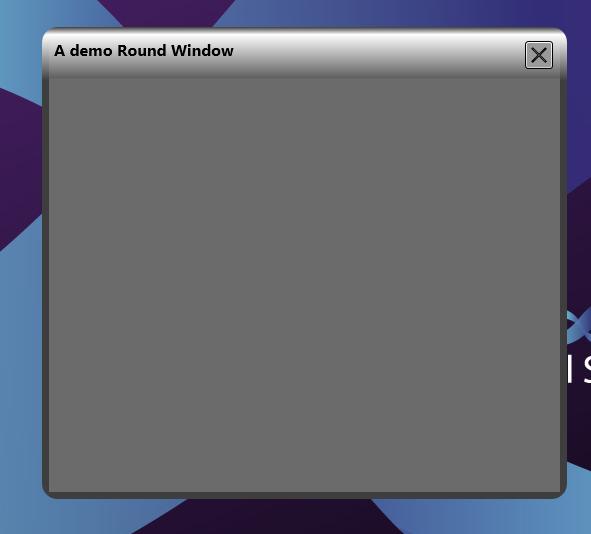 Extreme Developer: Cool Borderless Rounded WPF Form