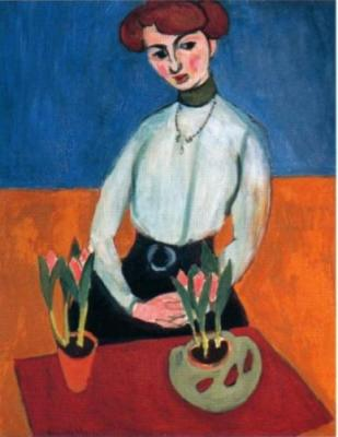 Fanciulla con tulipani-Henri Matisse