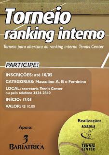 Portifólio  Cartaz Torneio Tenis 28b96f72434bf