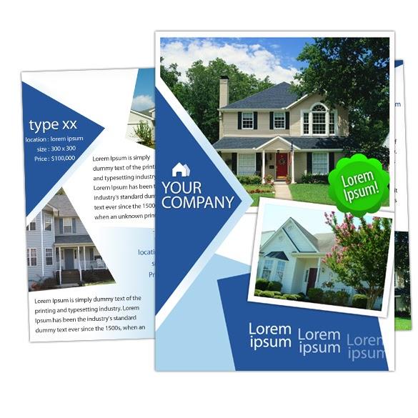 real estate prospectus template - brochure house real estate brochure template