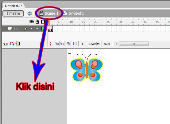 Multimedia SMKN1 Ampek Angkek: Cara Membuat Animasi Kupu