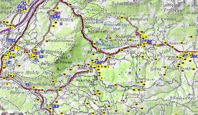 Ausztria Terkep Tirol Marlpoint