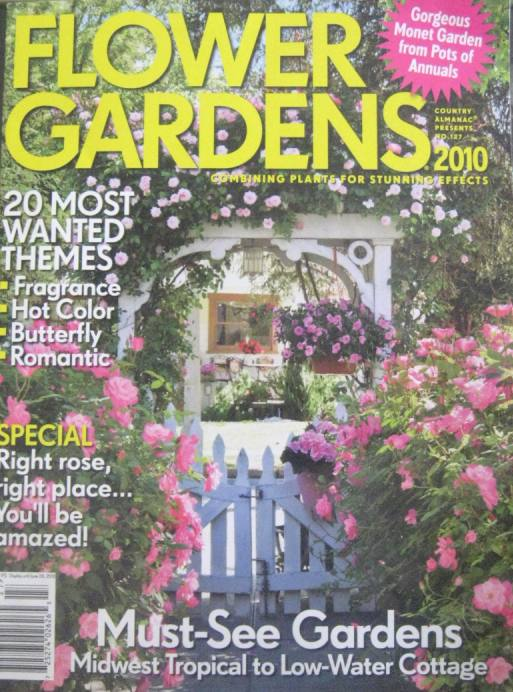 Cindy Ellis Art Our Garden Arbor Made The Cover Of Flower
