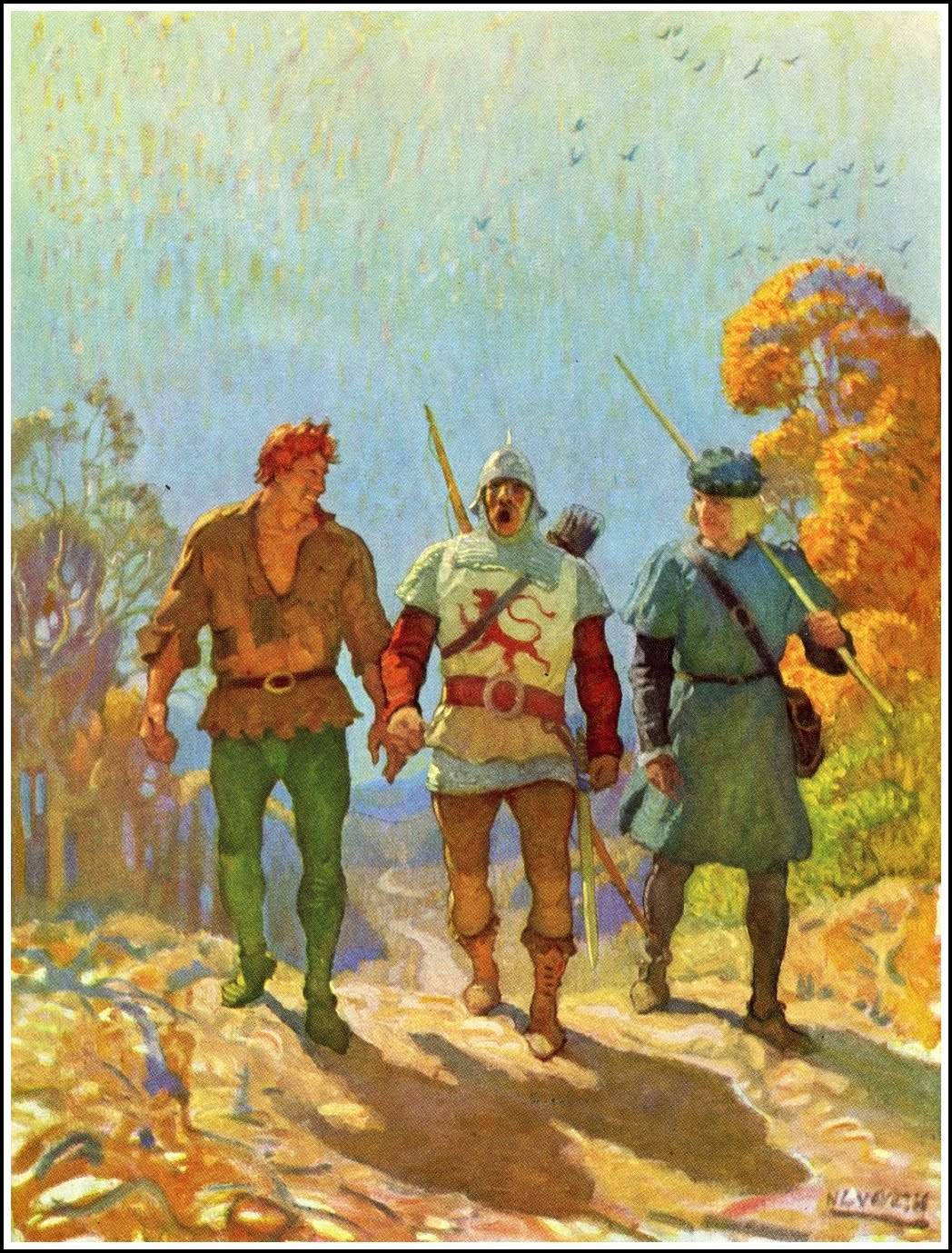 All story: N. C. Wyeth The White Company by A. Conan Doyle Published by David McKay ~ 1922