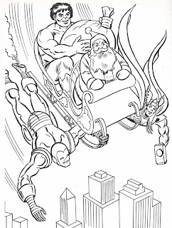 christmas avengers coloring pages | Neato Coolville: 1984 MARVEL SUPER HEROES' CHRISTMAS ...