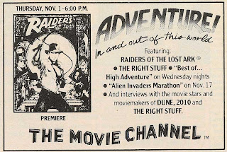 Neato Coolville: PREMIUM CHANNELS MOVIE GUIDE NOV  1984