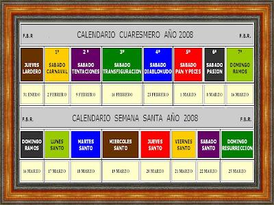 calendario 2007 semana santa 2007: