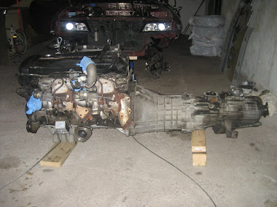 Nissan RB26DETT Engine pulled removed from car