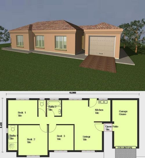 Nice 3 Bedroom House For Rent: HOUSE: Pre-drawn House Plans The Benefits And Styles