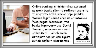 Banking online is unsafe