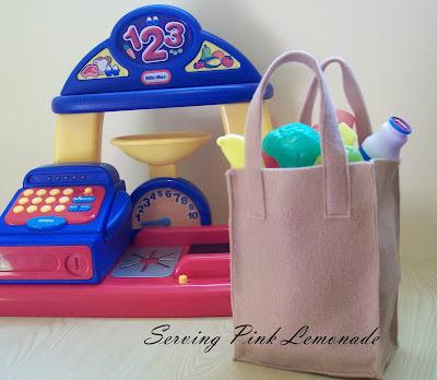serving pink lemonade grocery sack. Black Bedroom Furniture Sets. Home Design Ideas