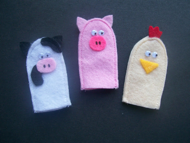 Homemade Quiet Book - Free Templates. Animal Finger Puppets