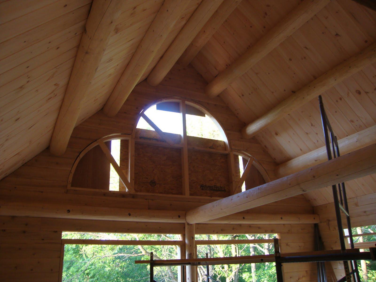 Patriot Log Home Builders Ward Log Home Roof Purlins