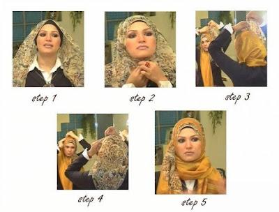 طرق رائعة للف الحجاب Hijab+with+bottom+scarf+peeking+through