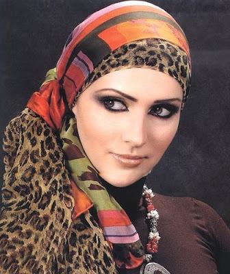 طرق رائعة للف الحجاب Egyption+Leopard