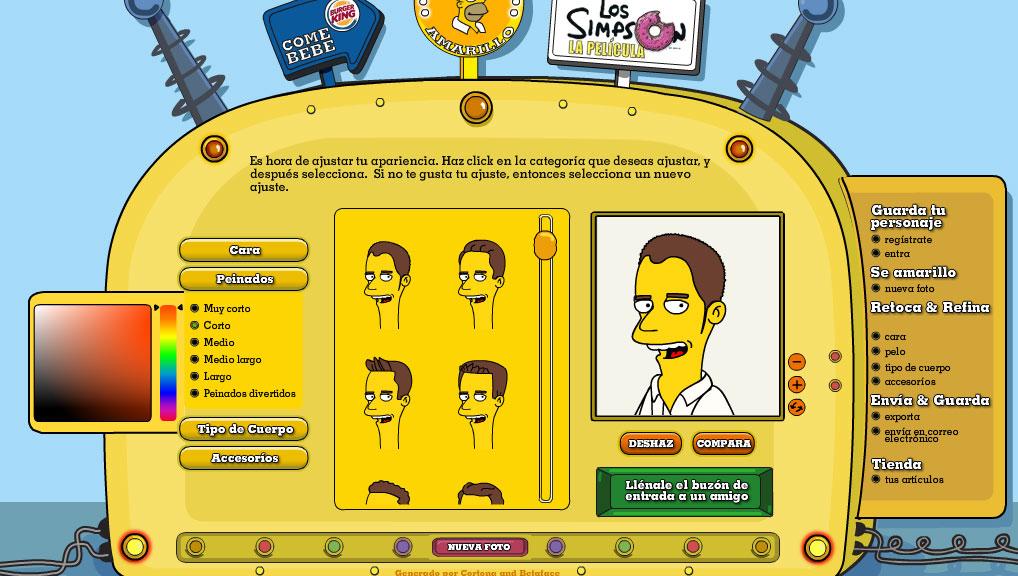 Simpsonizate y crea tu personaje de los Simpsons