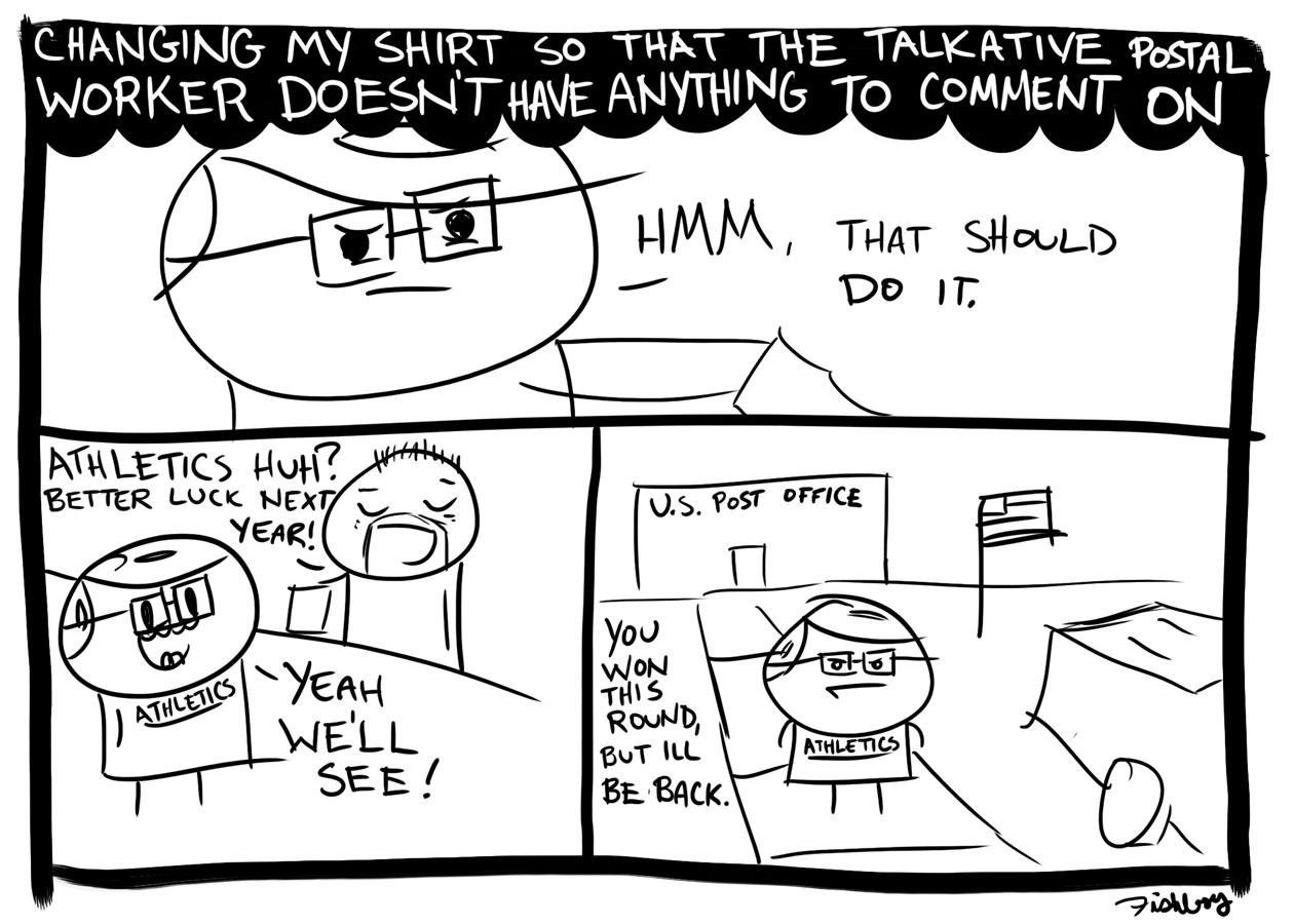 Yo Fishboy Comic From Monday Talkative Postman