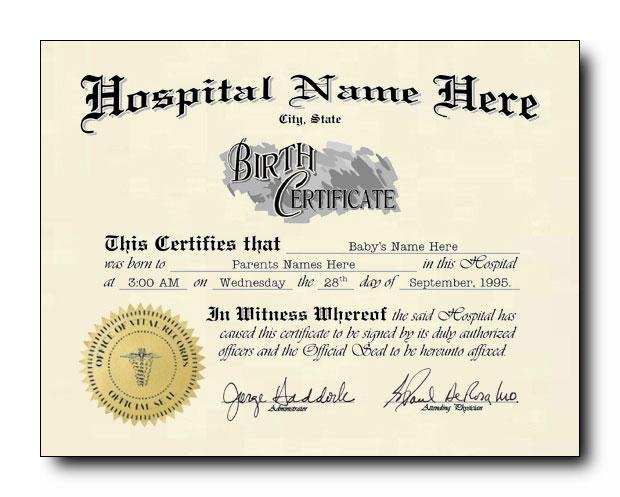 Sovie Tattoo blank birth certificate