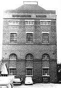 Brewery tower shortly before demolition, 1988