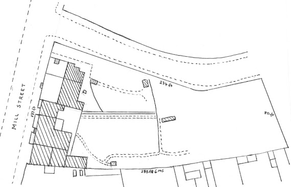 Plan of Roses Brewery from 1899 conveyance