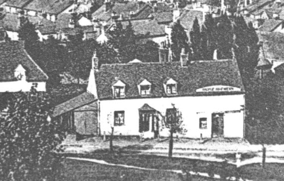 Early photo of the Roses Brewery, Mill Street, Redhill c1888.