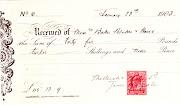 Mellersh & Neale receipt 1903