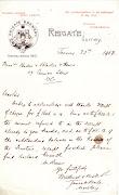 Mellersh & Neale letter 1903