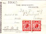 Mellersh & Neale receipt 1929