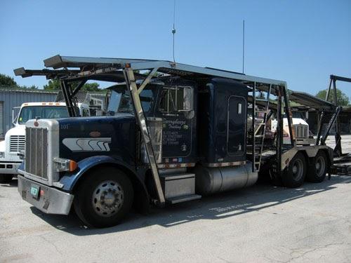 wanna buy a truck 2000 peterbilt 379 sleeper cab auto carrier truck mounted. Black Bedroom Furniture Sets. Home Design Ideas
