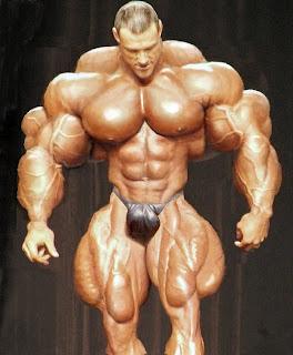 massively freakish body builder guy