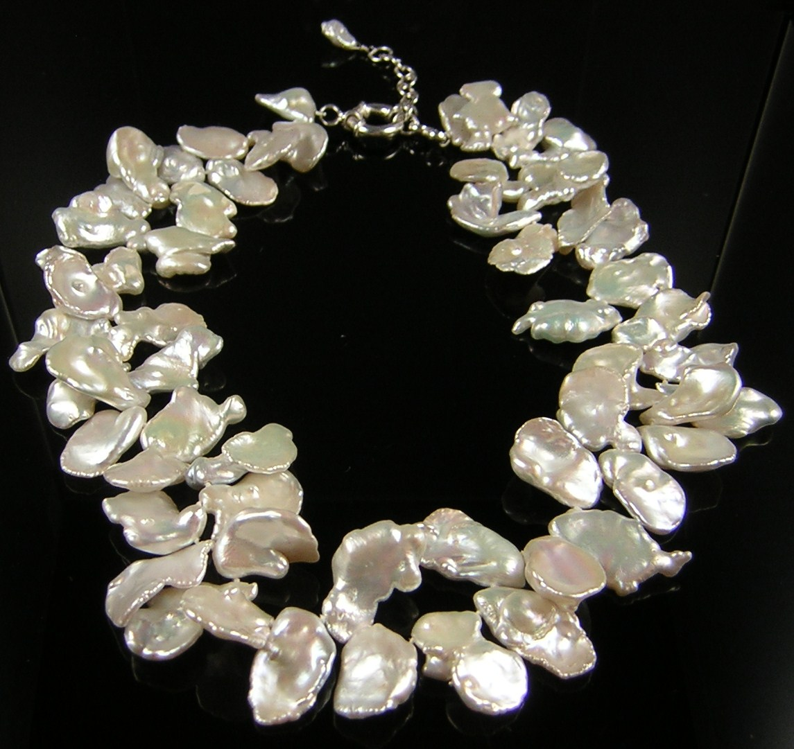 Pearls By Fox 20mm Keshi Poppy Pearl Necklace