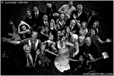 wedding photograph of a group in Steamboat Springs, Colorado by Conrad Olivier