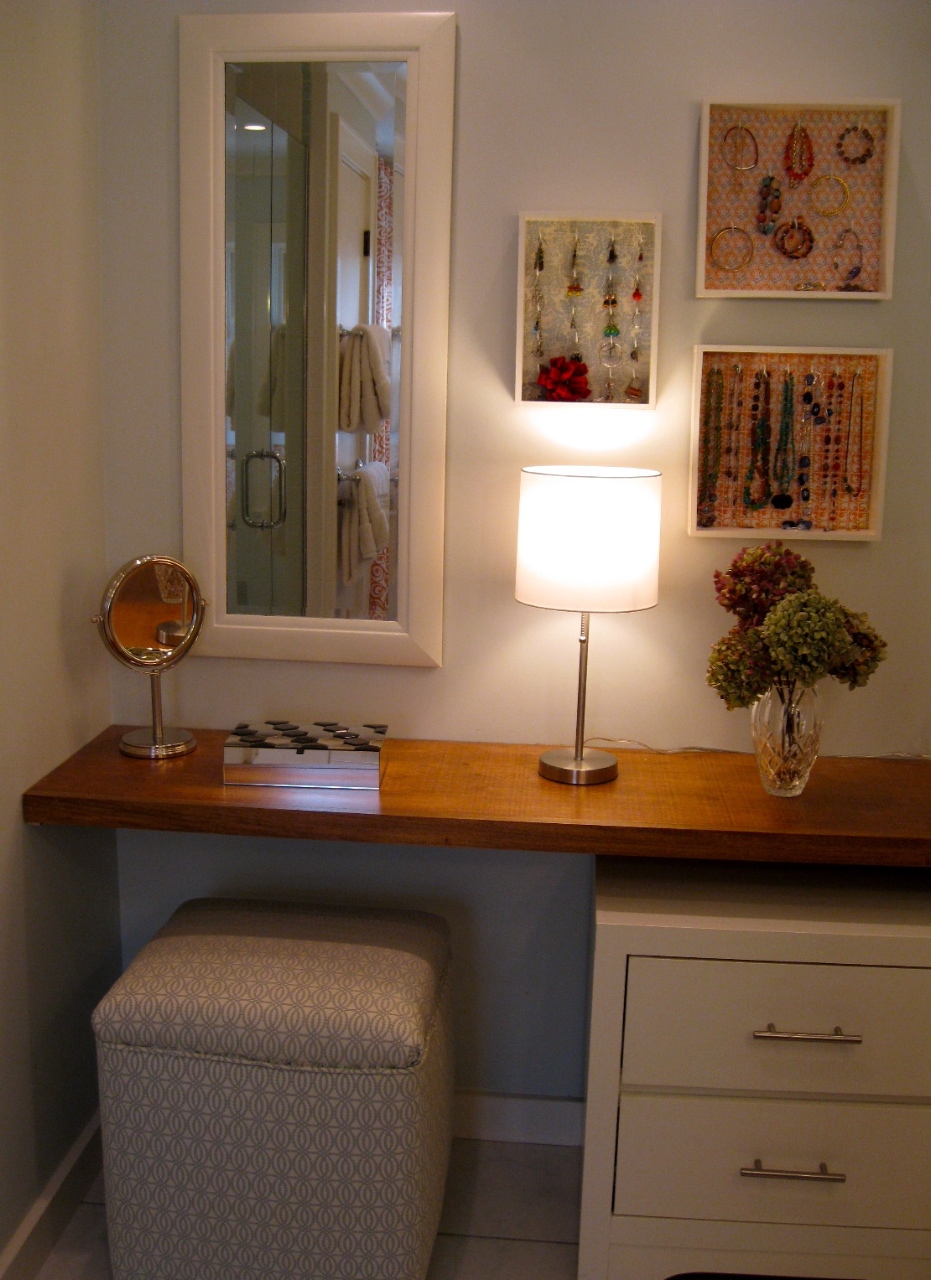 The Finished Dressing Area Complete With Many Diy Projects