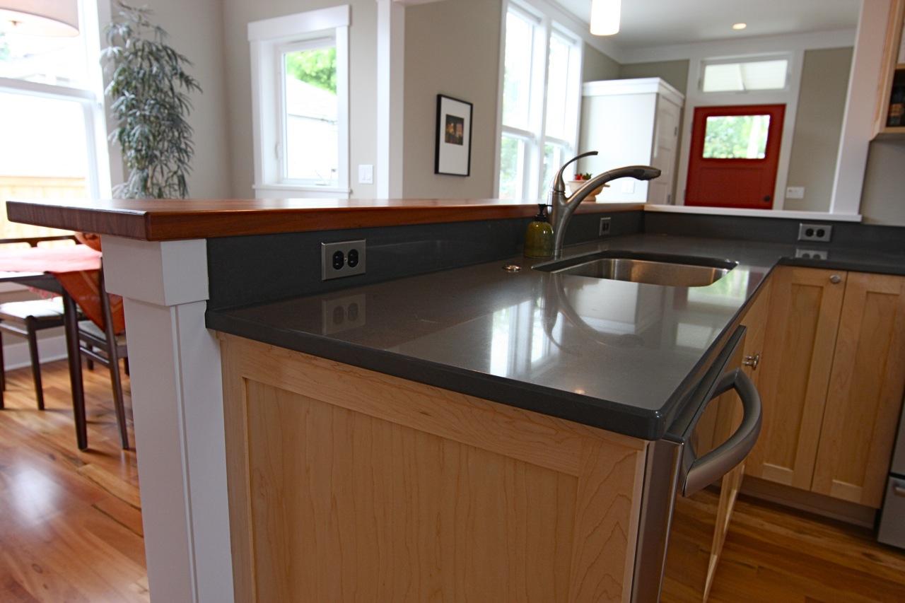 details of home: kitchen bar top