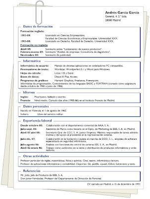 modelos de curriculum modernos. modelo de curriculum vitae en espaol. modelos de curriculum vitae en
