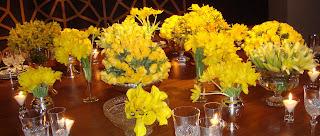 6 Detalhes de uma mesa AMARELA...!