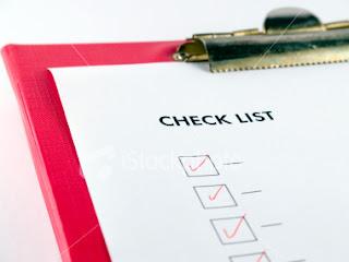 checklist Dicas importantes!!!!