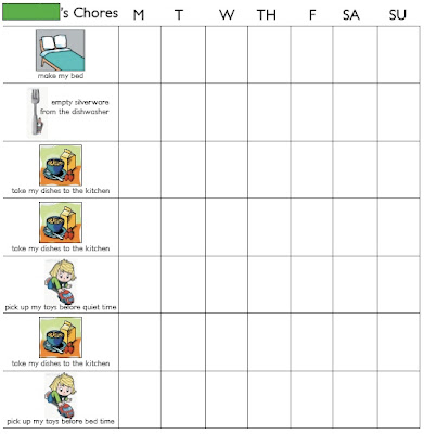 Free printable chore charts for children Trials Ireland