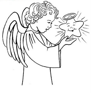 colora l'angelo di natale