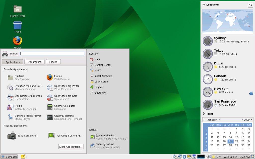 Novell suse enterprise linux 11