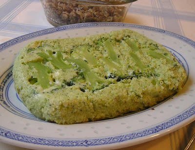 The sformato di broccoli unmoulded